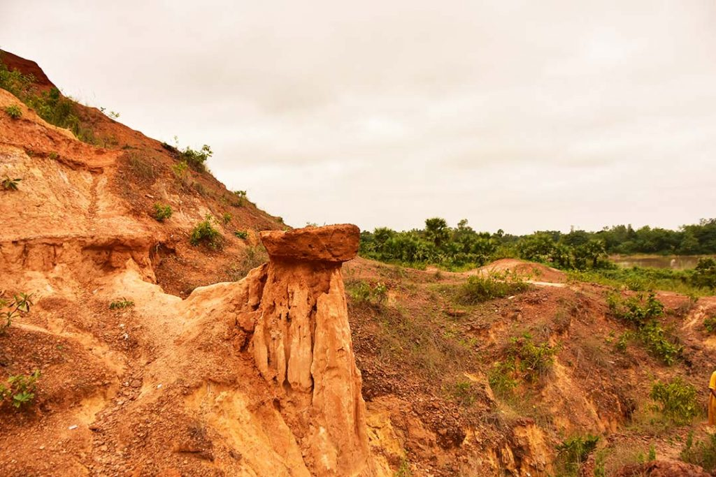 The rugged laterite landscape at Gongoni Danga