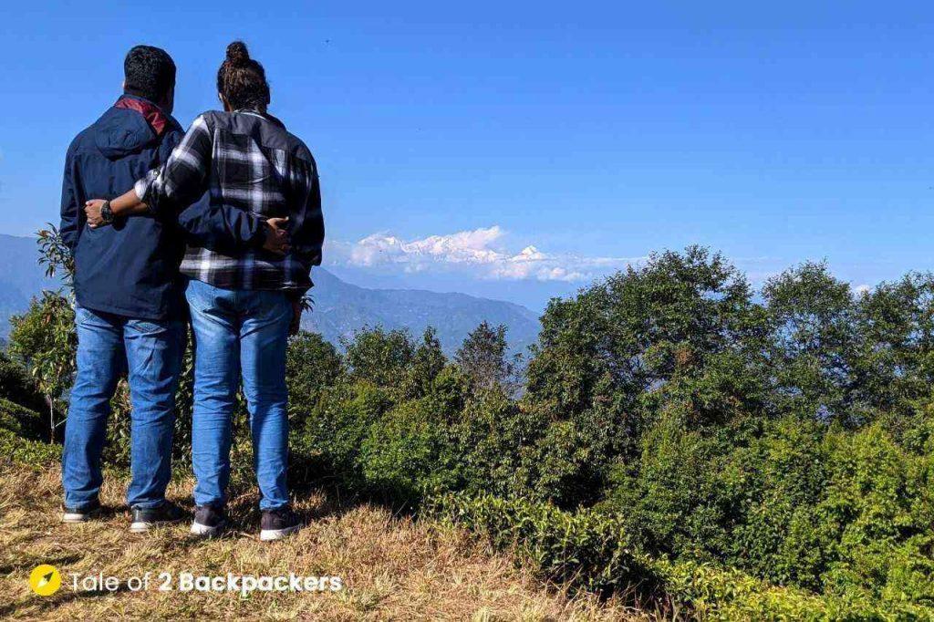 Agni and Amrita at 360 degree view point at Singtom Estate