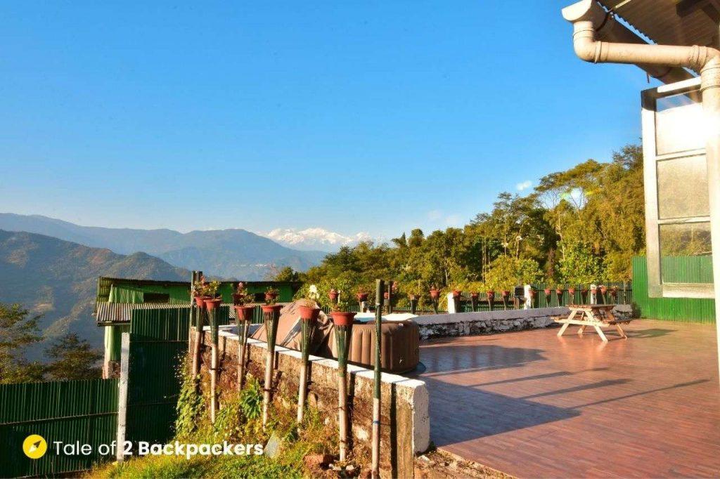 Patio at Singtom Tea Estate and Resort Darjeeling