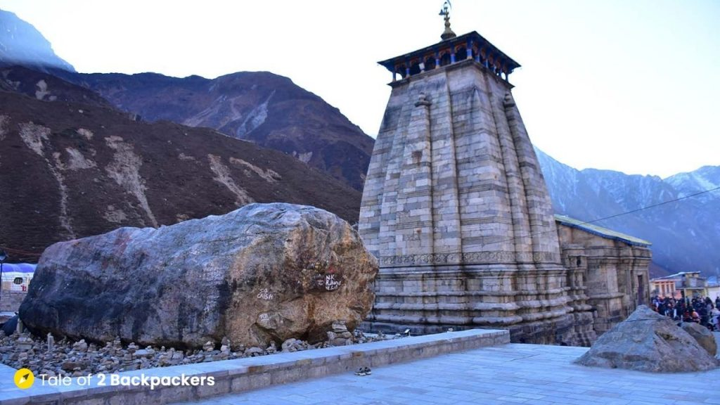 Divya Bheem Shila behind the Kedarnath Temple