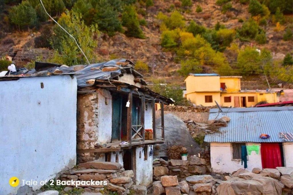 Houses at Mana village in Uttarakhand