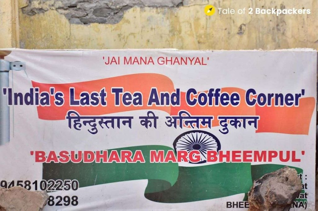 Last Tea shop of India at Mana Uttarakhand
