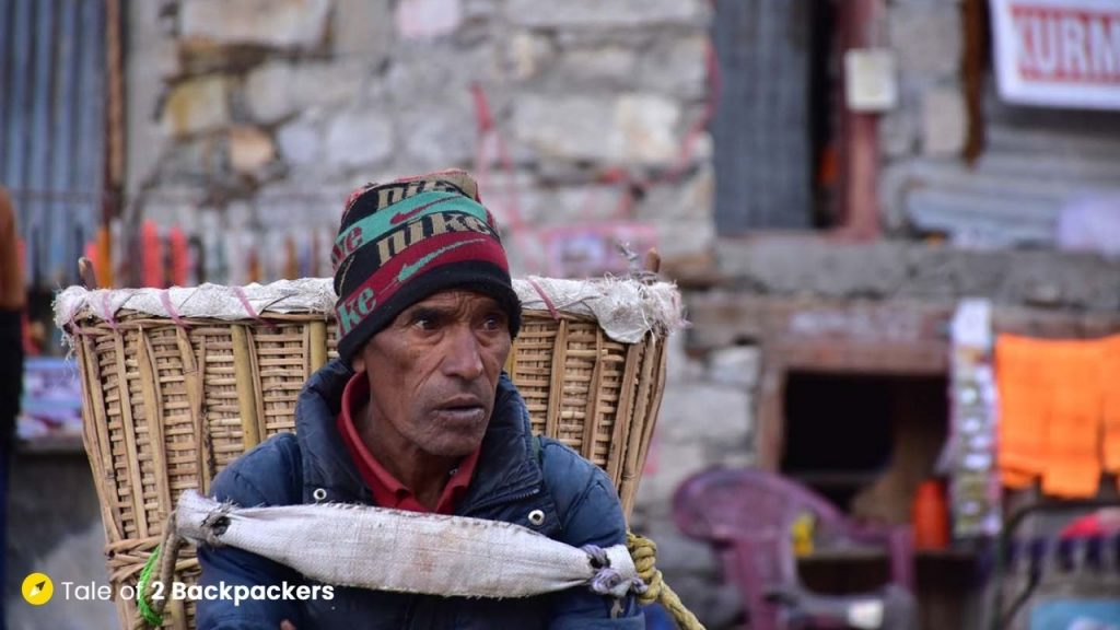Pitthu at Kedarnath Yatra