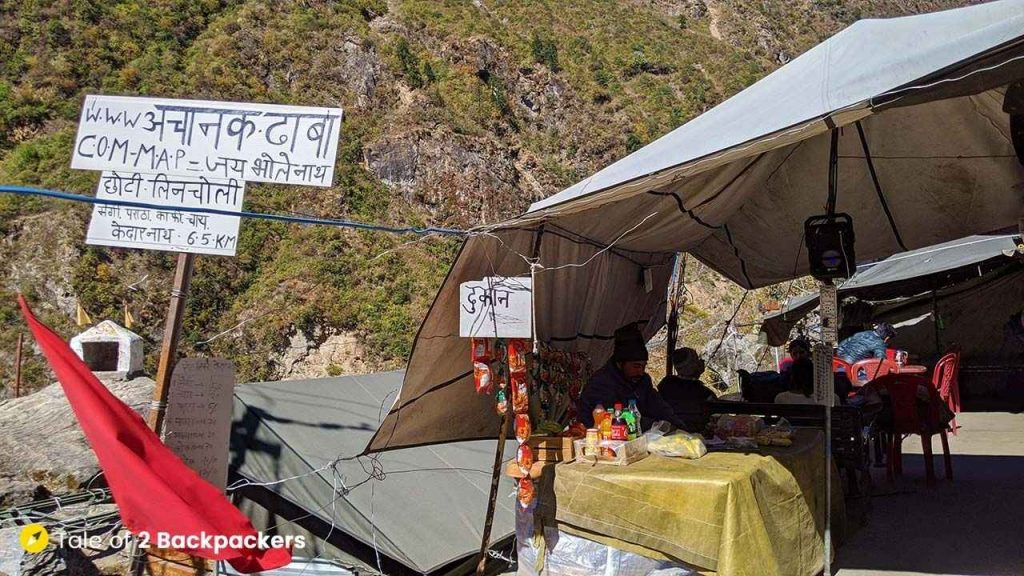 Restaurant at Chhoti Lincholi on the way to Kedarnath Yatra