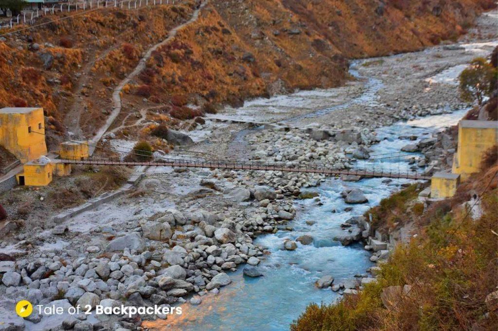 Saraswati River at last Indian village