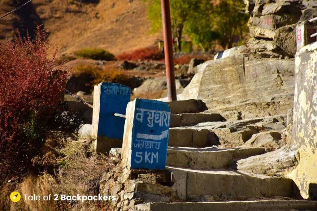 Way to Vasudhara Falls