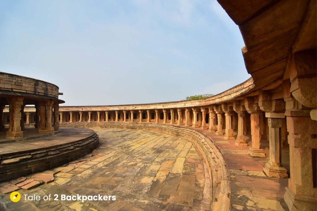 64 shrines inside the Chausath Yogini Temple Morena