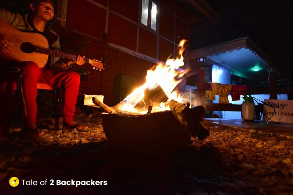 Bonfire at Homestay at Chalamthang