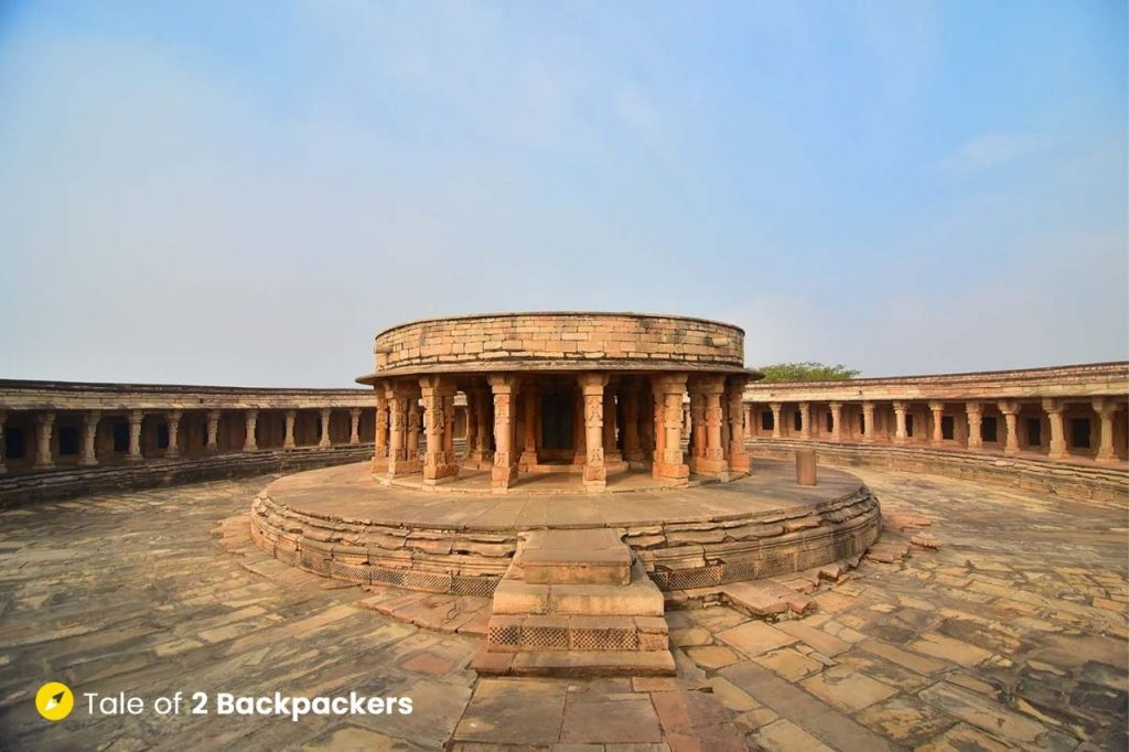 Central shrine at Chausath Yogini Temple Morena
