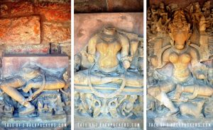 Images of Yoginis at Bhedaghat Temple at Jabalpur