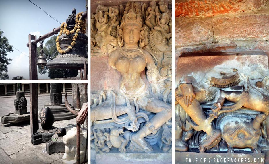 Images of Yoginis at Chausath Yogini Temple at Bhedaghat Jabalpur