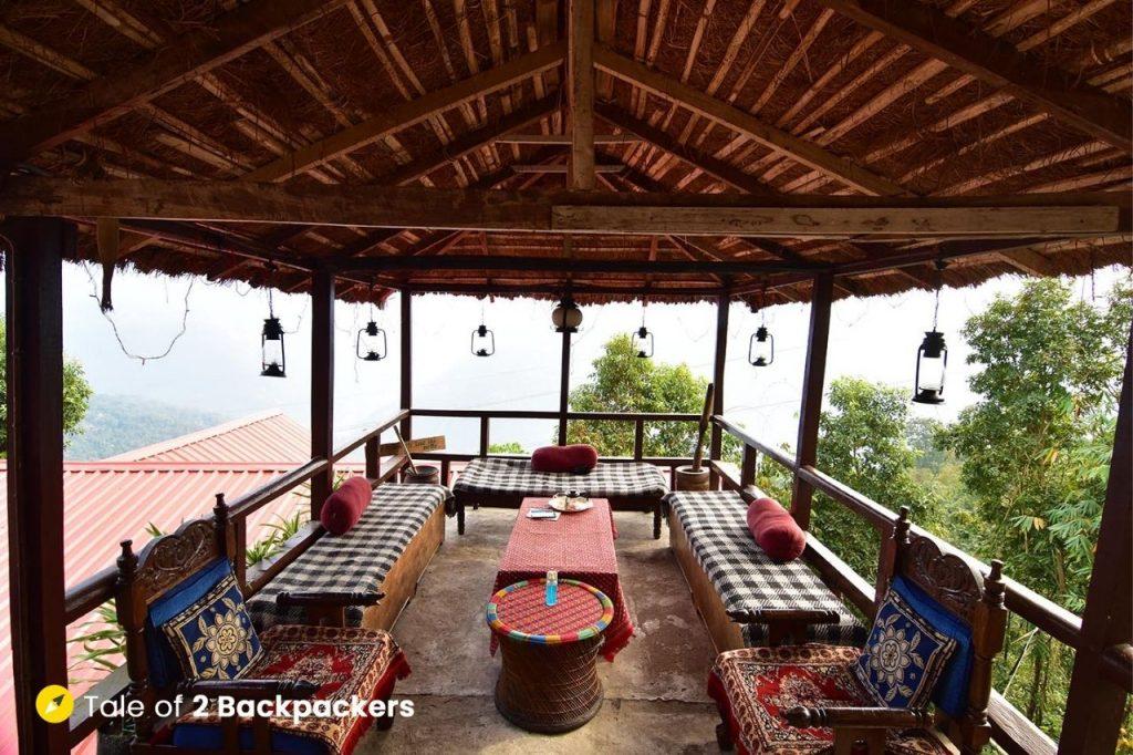 Machan or watchtower at Chalamthang Homestay