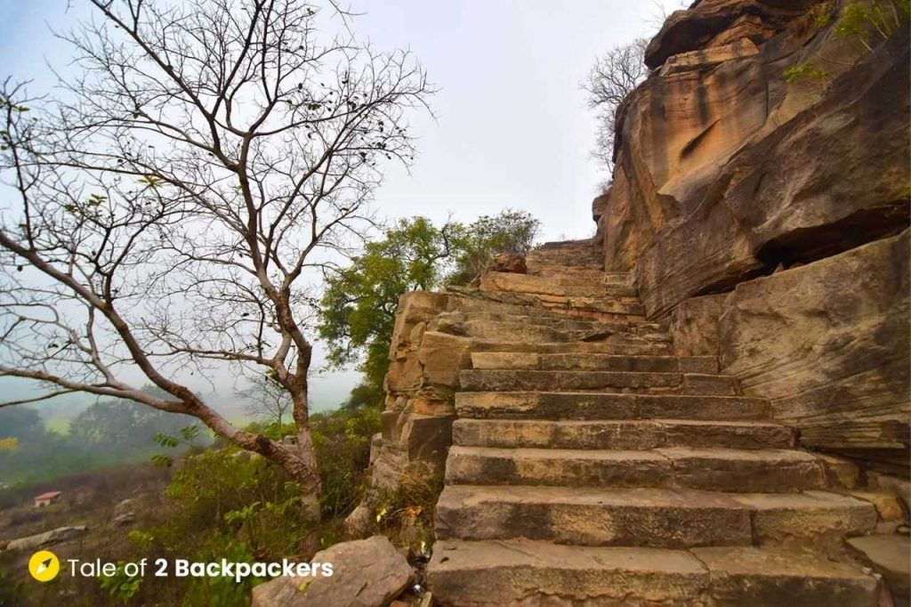 Steps to the Chausath Yogini Temple at Mitawali