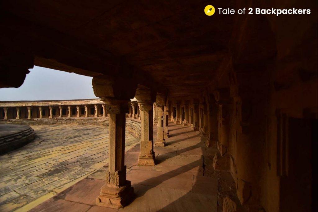 The verandah at Chausath Yogini Temple