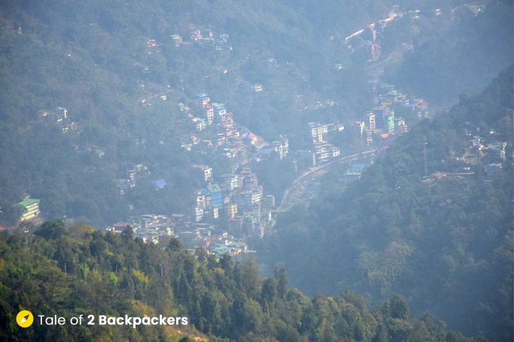 View of the mountains at Chalamthang Sikkim