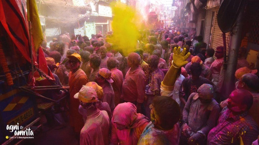 Colours at Holi in Burrabazar Kolkata