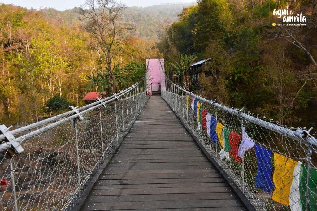 Hanging bridge at Bidyang near Kalimpong