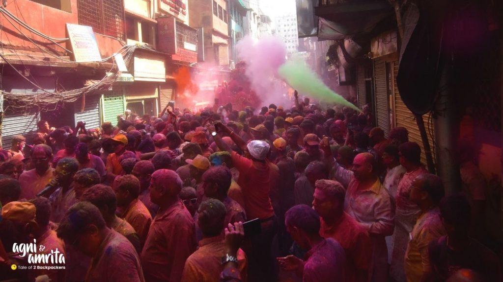 Holi procession in Kolkata