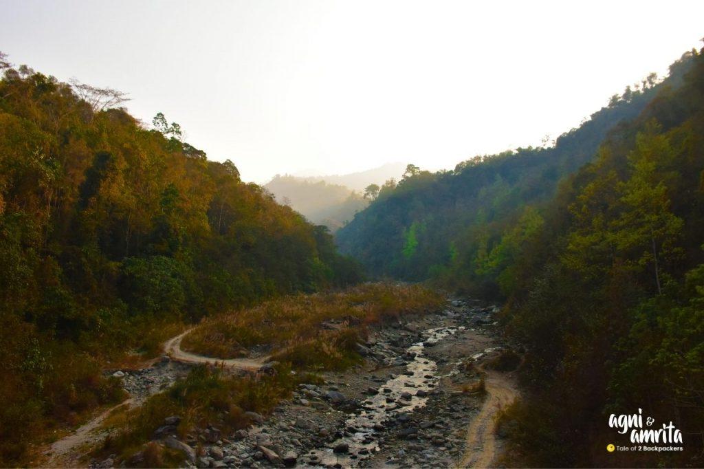 Relli River at Bidyang Valley - weekend getaway from Kolkata