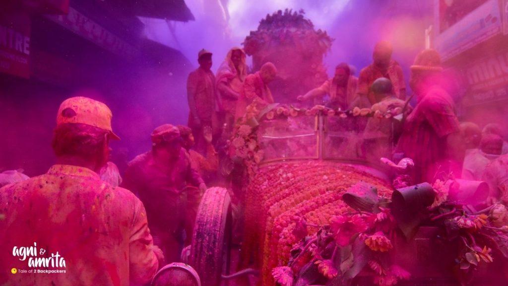 Rolls Royce Holi procession