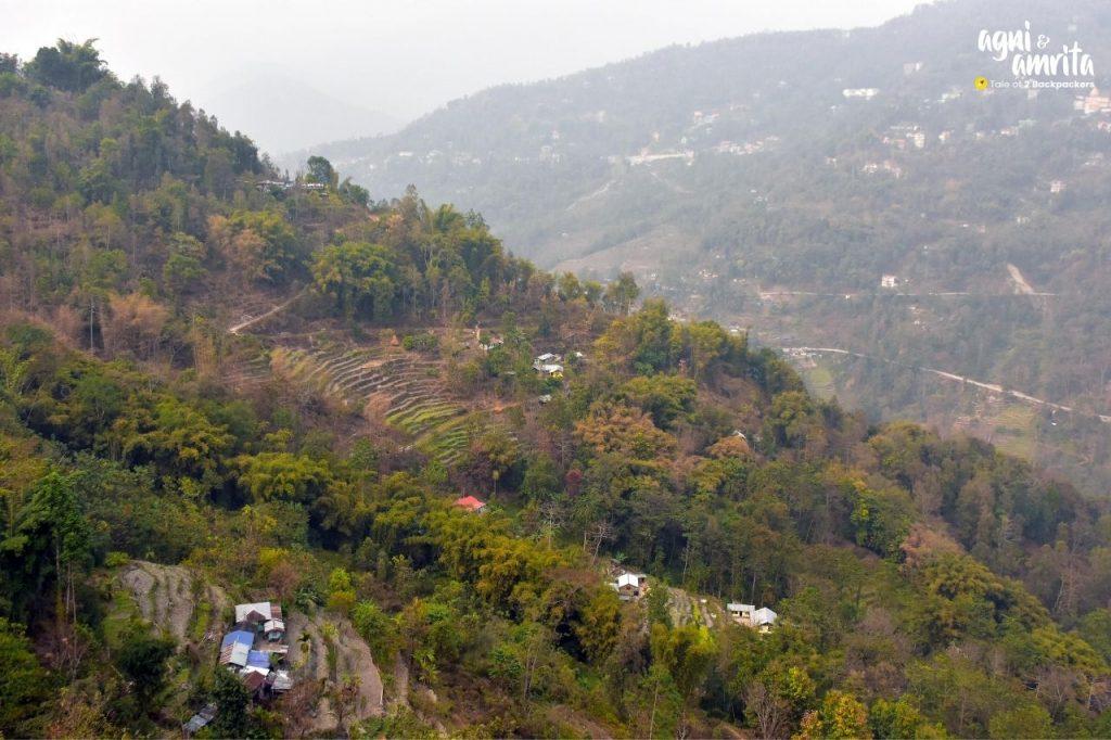View of Darjeeling from Bidyang View Point