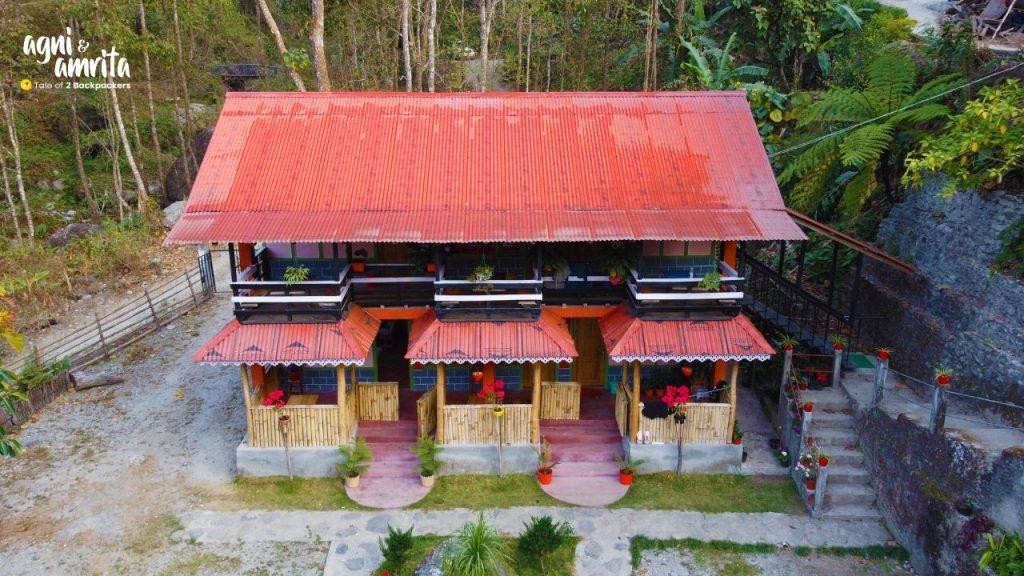 View of the homestay at Bidyang
