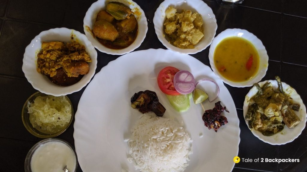 Bengali cuisine with traditional dishes