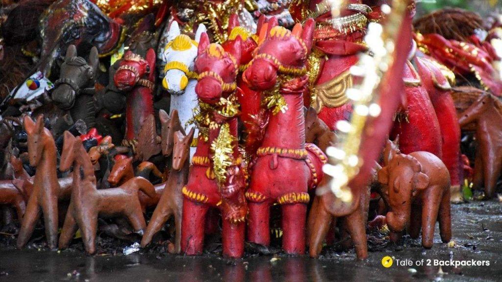 Clay horses at Duarsini Temple or Bonbibi Temple