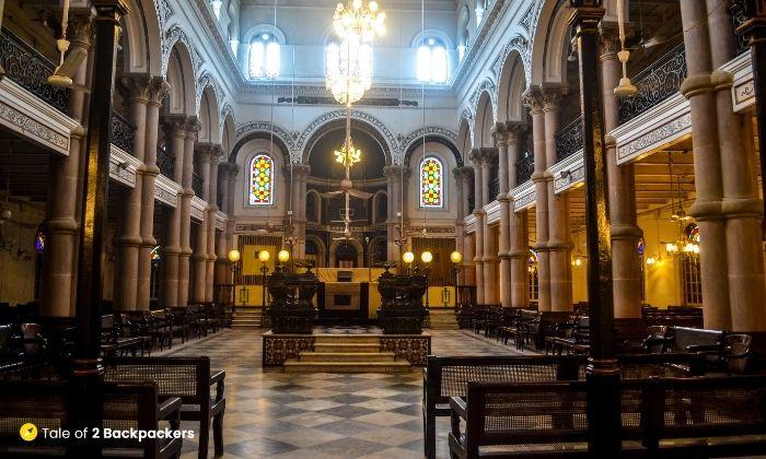 Interiors of Magen David Synagogue