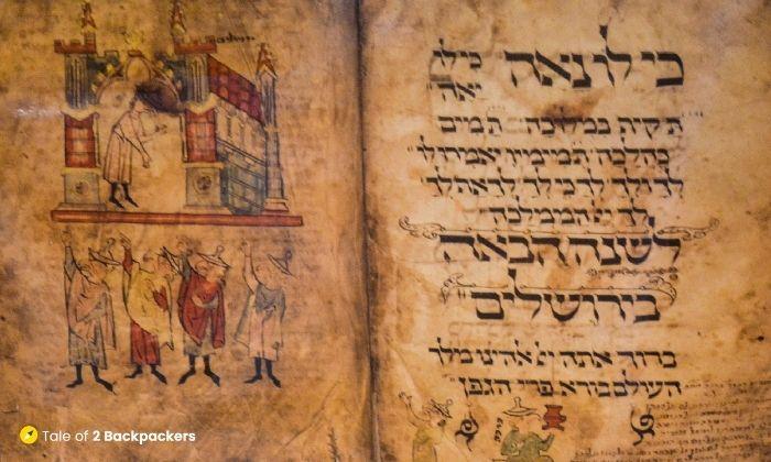 Jewish script as found in synagogues in Kolkata