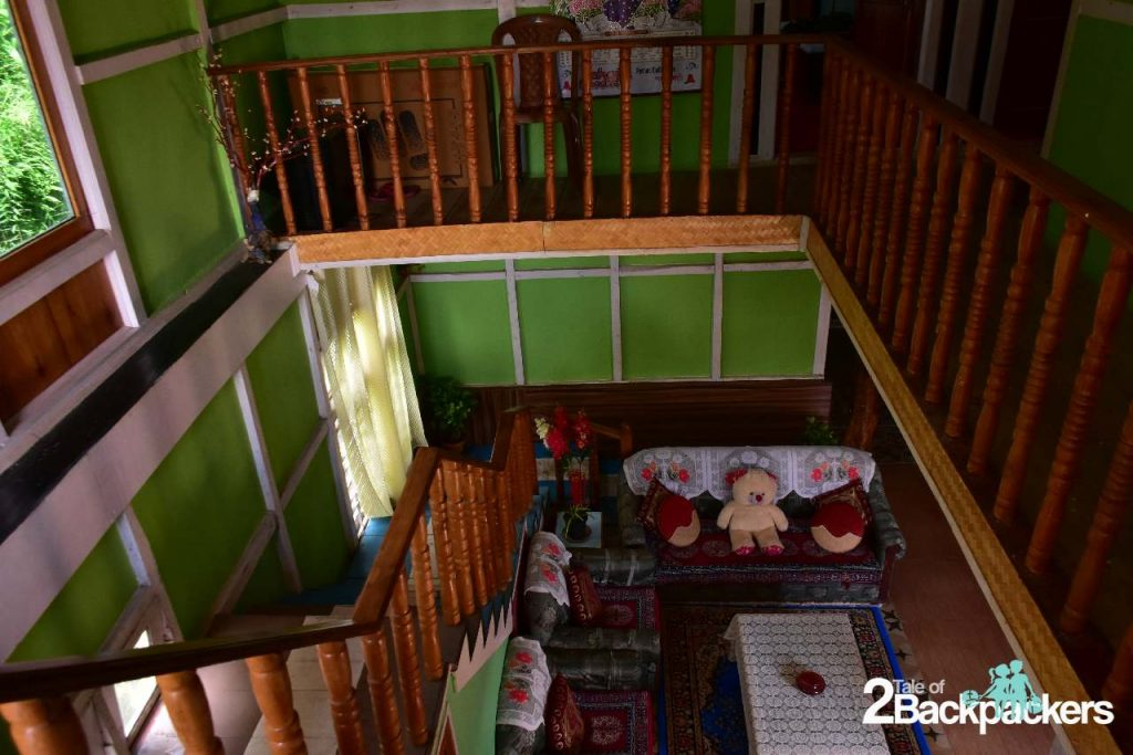Interiors of Pradyumna Homestay at Bermiok Martam in West Sikkim