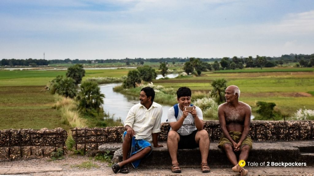 Sitting and talking with the locals of Singee village