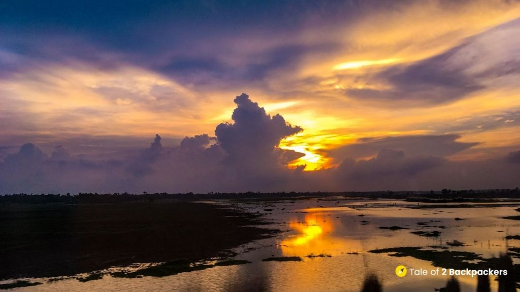 Sunset at Singi near Barddhaman