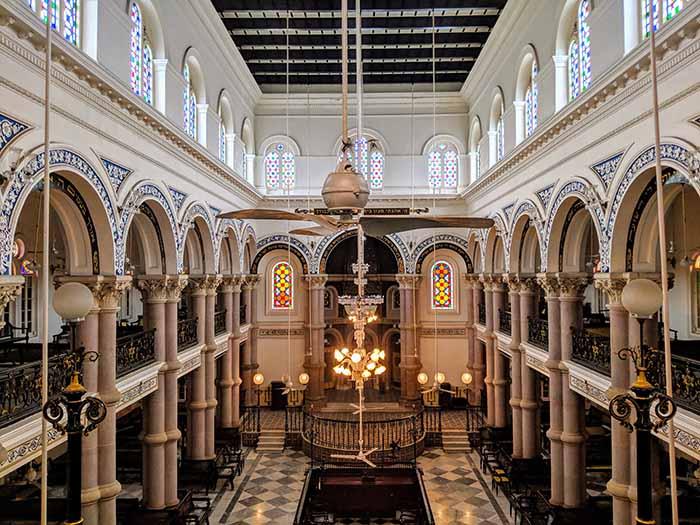 Interiors of Magen David Synagogue in Kolkata