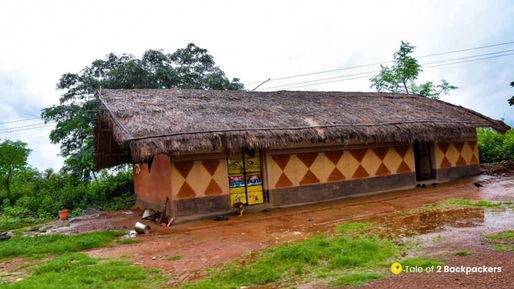 Tribal house at Bangriposi Odisha