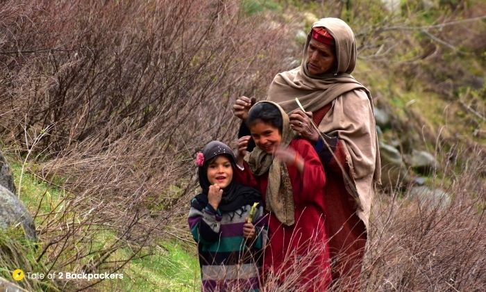 A local family at Aharbal