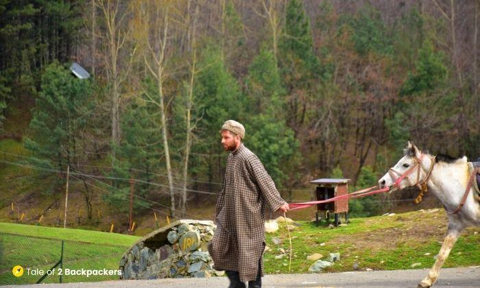 A pony owner at Doodhpatri - is Kashmir safe for tourists