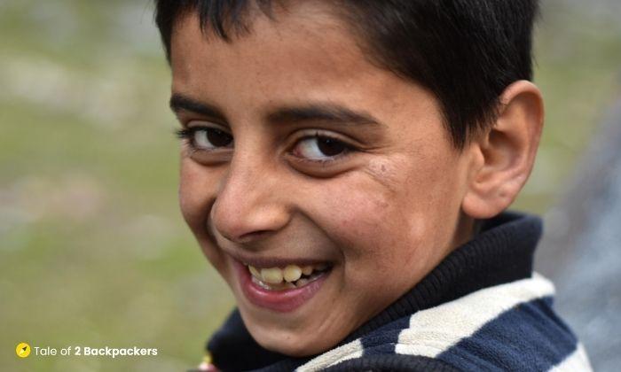 A smiling child at Naranag