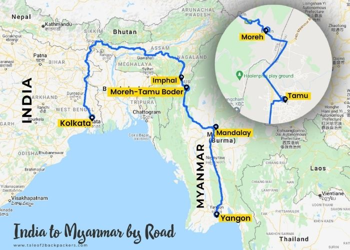 India to Myanmar Road Map