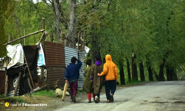 Little boys after playing cricket - is Kashmir safe for tourists