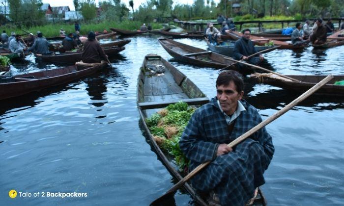 Morning Vegetable market at Srinagar Dal Lake