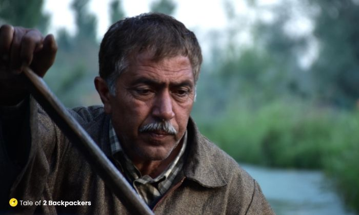 Shikara owner at Dal Lake