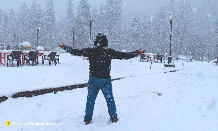 Snowfall at Sonmarg