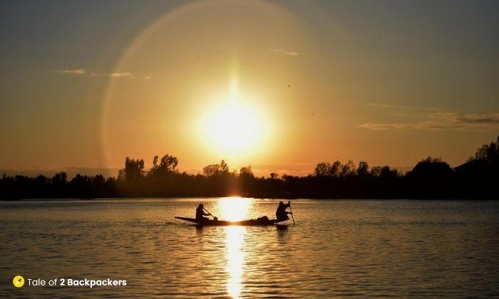 Sunset at Dal Lake Srinagar - is Kashmir safe for tourists