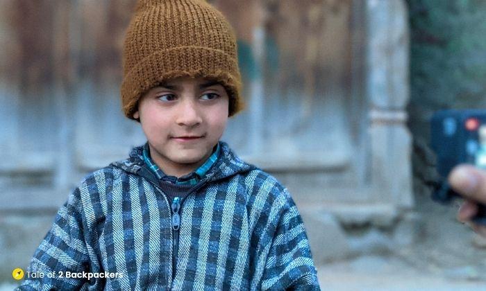 A little Kashmiri boy