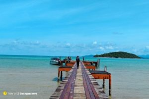 Pier at Koh Mak Thailand