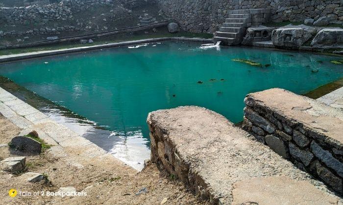 Reservoir at Naranag Shiva Temple Complex