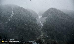 Snowfall at Naranag