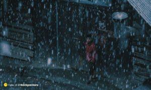 Snowfall in Kashmir