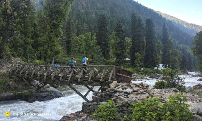 Wooden Bridge at Dumail Trek